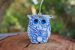 Ceramic Owl ornament - Ceramics By Orly  - 1