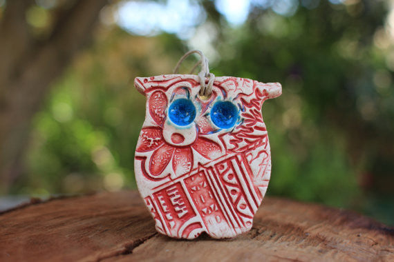 Owl ornaments Owl decoration - Ceramics By Orly  - 1