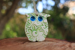 Ceramic Owl ornament - Ceramics By Orly  - 3