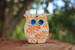 Ceramic Owl ornament - Ceramics By Orly  - 4