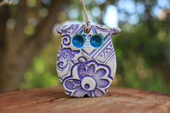 Owl ornaments Owl decoration - Ceramics By Orly  - 5