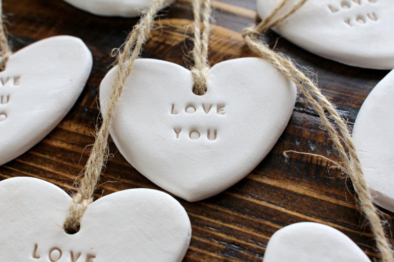 Love you Heart ornament Gift tag – Ceramics By Orly
