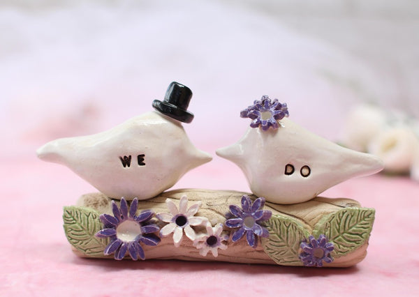 Custom cake topper, We do Bird wedding cake topper, Love bird cake topper