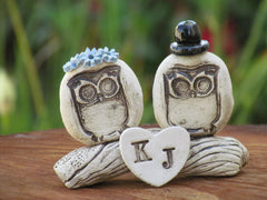 Personalized owls wedding cake topper - Ceramics By Orly  - 3
