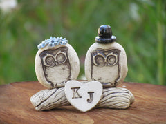 Personalized owls wedding cake topper - Ceramics By Orly  - 4