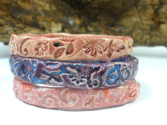 Ceramic jewelry Romantic and stylish rose pink ceramic bracelet - Ceramics By Orly  - 2
