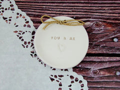 You & Me Wedding ring dish  $28.00 - Ceramics By Orly  - 2