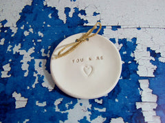 You & Me Wedding ring dish  $28.00 - Ceramics By Orly  - 4