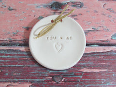 You & Me Wedding ring dish  $28.00 - Ceramics By Orly  - 5