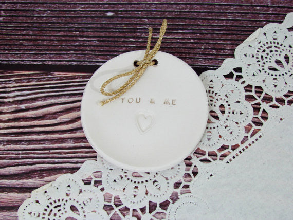 You & Me Wedding ring dish  $28.00 - Ceramics By Orly  - 1