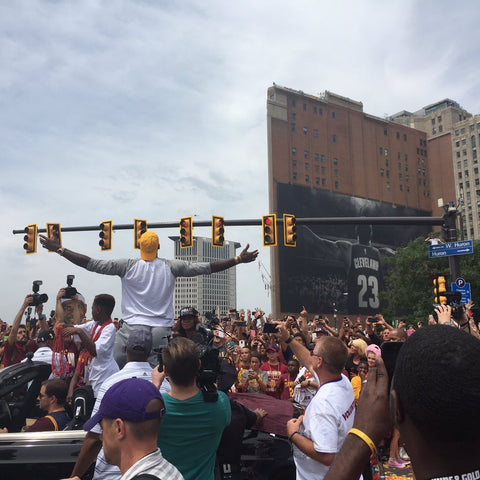 Lebron James Celebrates Championship Parade