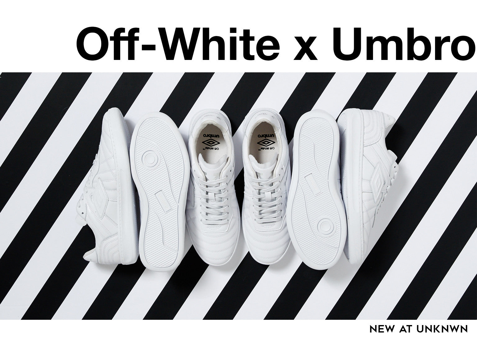 New at UNKNWN: OFF-WHITE ℅ Virgil Abloh x Umbro Sneaker