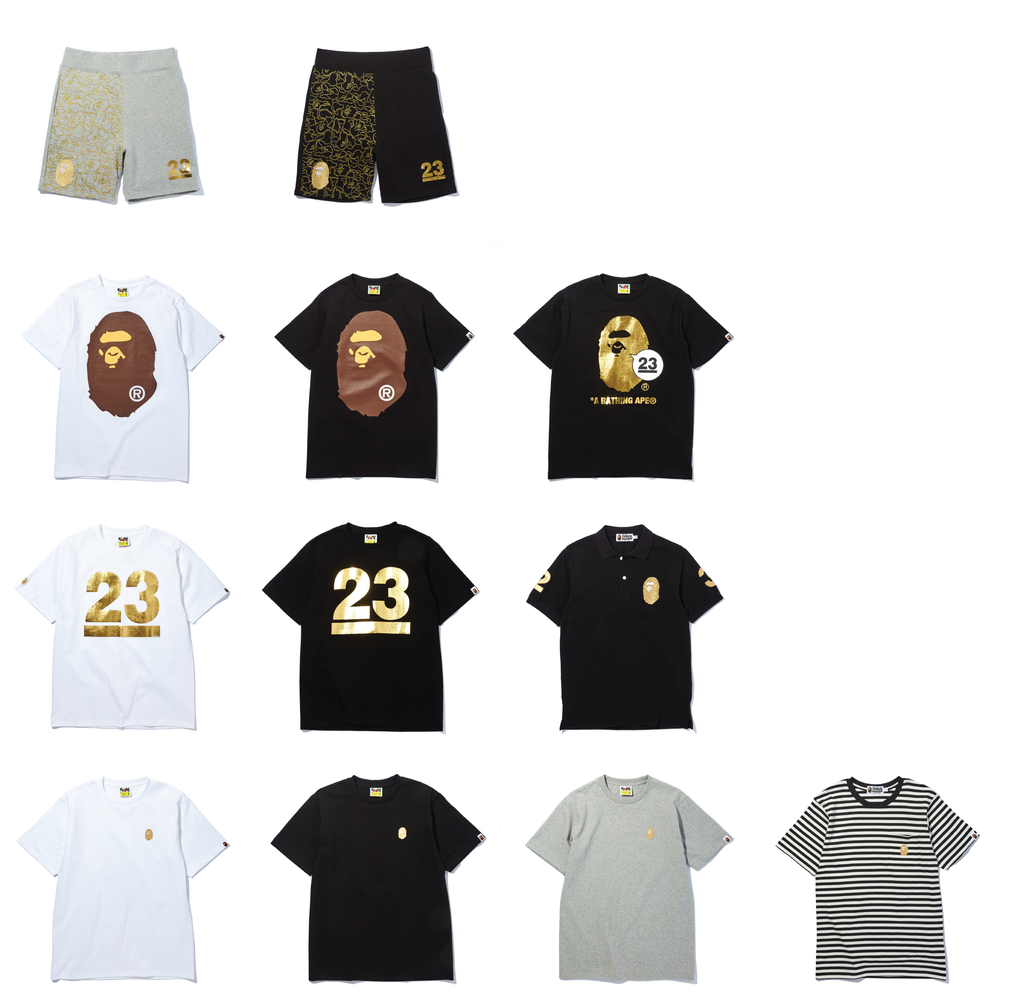 A Bathing Ape 23rd Anniversary Gold Collection