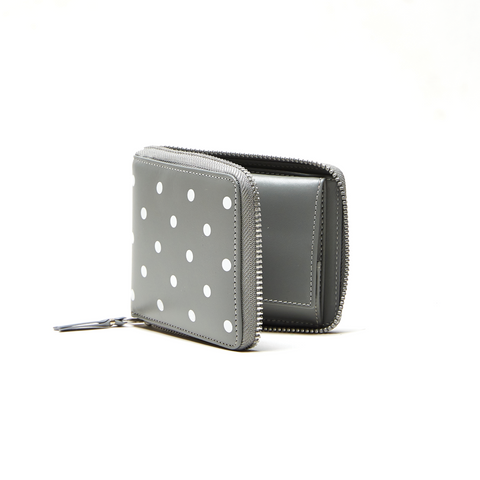 DOTS PRINTED LEATHER LINE WALLET