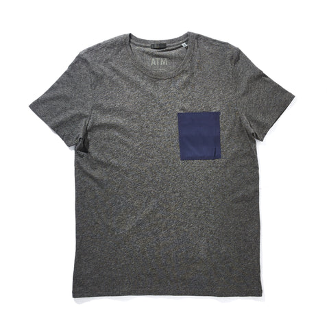SILK POCKET SHORT SLEEVE T-SHIRT