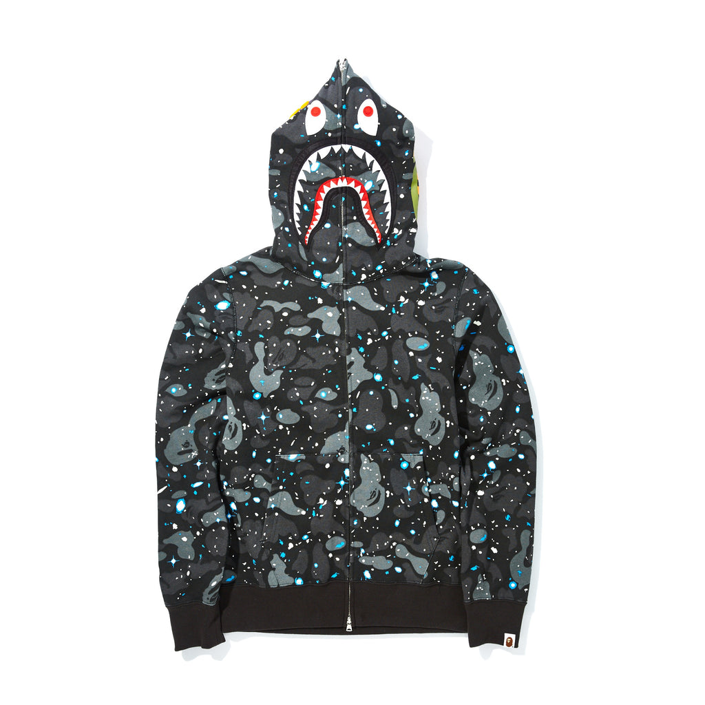 940f97a372bb BAPE - SPACE CAMO SHARK FULL ZIP HOODIE – UNKNWN