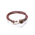 HAND BRAIDED DOUBLE WRAP BRACELET, BURGUNDY COMBO