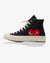CONVERSE CHUCK TAYLOR ALL STAR '70 HIGH, BLACK/RED HEART