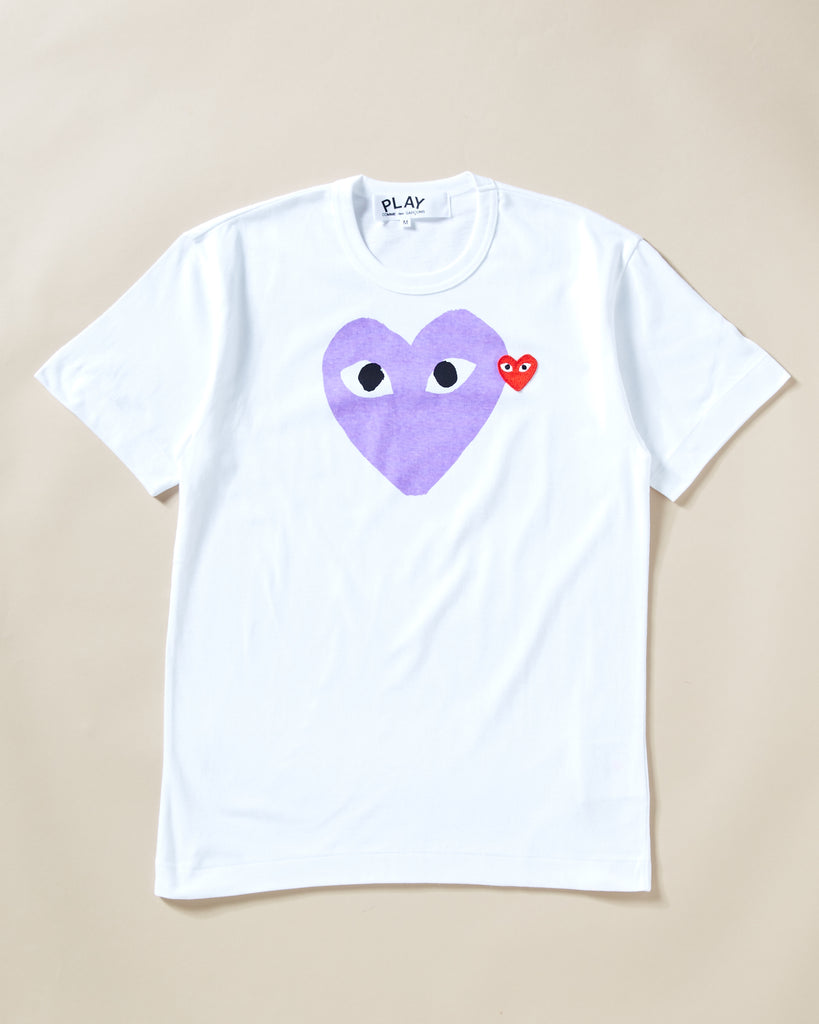 3b8fda265 COMME DES GARCONS PLAY - T-SHIRT WITH PURPLE HEART – UNKNWN