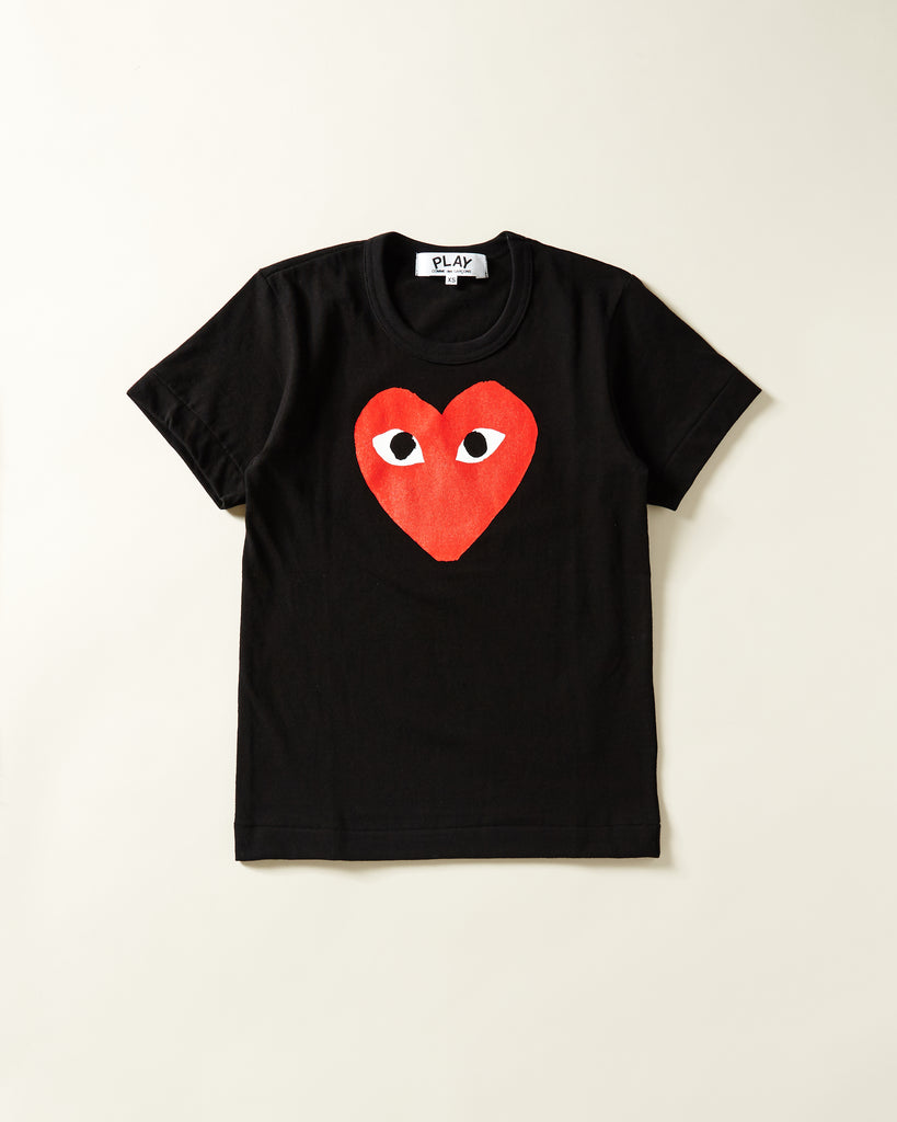 4254e0df0fc0 COMME DES GARCONS PLAY - WOMENS T-SHIRT WITH LARGE RED HEART – UNKNWN