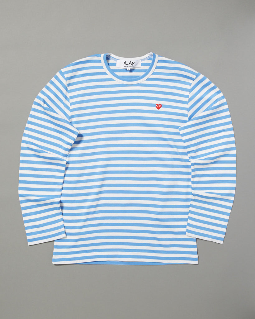 1964436c COMME DES GARCONS PLAY - STRIPED LONG SLEEVE T-SHIRT – UNKNWN