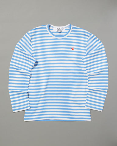 cf61e4636 COMME DES GARCONS PLAY - STRIPED LONG SLEEVE T-SHIRT – UNKNWN