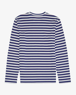 STRIPED LONG SLEEVE T-SHIRT WITH SMALL DOUBLE HEARTS