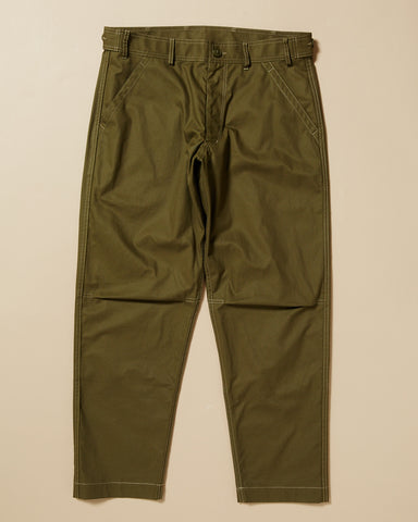 POPLIN PANT WITH BACK SEAT PATCH