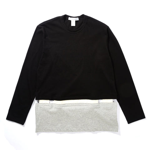 LONG SLEEVE COMBO T-SHIRT WITH CUTOUT