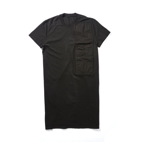 ELONGATED T-SHIRT WITH SILK POCKET