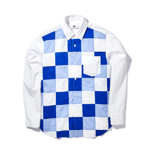 PATCHWORK CHECKERED SHIRT