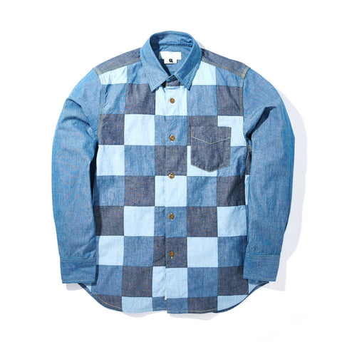 SINGLE POCKET PATCHWORK SHIRT