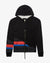 50/50 PUFFY ZIP HOODIE WITH MIXED STRIPES