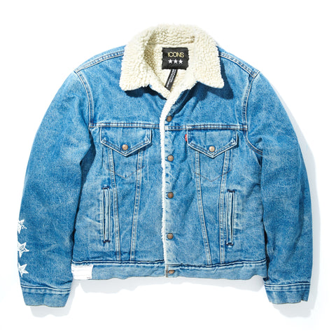 LEVIS SHERPA LINED DENIM TRUCKER JACKET