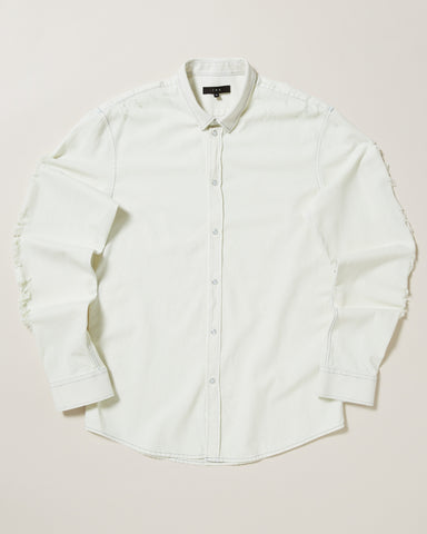 VINCEO DISTRESSED SNAP FRONT SHIRT