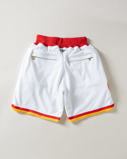 Just Don 1995 Houston Rockets Shorts White/Red