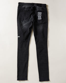 Men's Ksubi Van Winkle Snake Eyes Jeans In Black