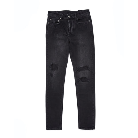 CHITCH BONEYARD BLACK RIP & REPAIR JEAN