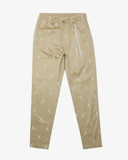 EMBROIDERED MONOGRAM PANT