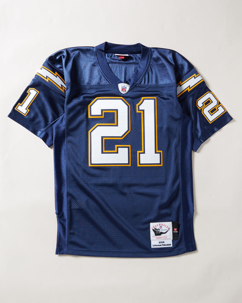 2002 SAN DIEGO CHARGERS LADAINIAN TOMLINSON AUTHENTIC JERSEY