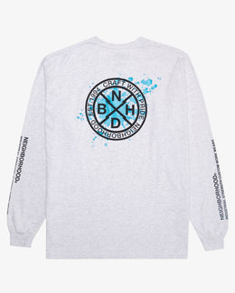 LONG SLEEVE PAINT SPLATTER LOGO T-SHIRT