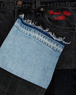 MADE BY NGO BLACK DENIM [UNKNWN EXCLUSIVE]