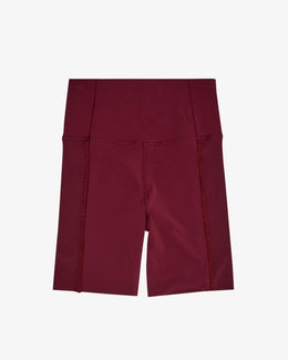 "WOMENS YORK STATEMENT CLEAN 7"" SHORT, NIGHT MAROON/DARK BEETROOT"