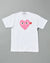 WOMEN'S T-SHIRT WITH LARGE PINK HEART