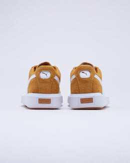 Men's Puma Breaker Suede in Buckthorn Brown/Puma White