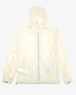 ZIP UP HOODED NYLON WINDBREAKER