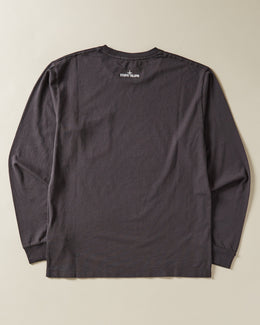 Stone Island Long Sleeve T-shirt with chest pocket in Charcoal