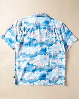 Stнґ_ssy Cloud and Birds Shirt Blue