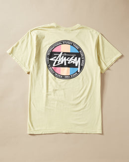 "St–Ω""ë_ssy Surfman Dot Pigment-Dyed T-Shirt Yellow"
