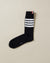 MID CALF SOCKS WITH 4 BAR STRIPE